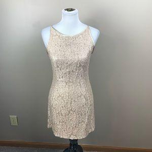 Jessica McClintock Gunne Sax Shimmery Lace Dress